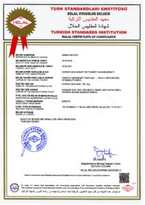 Akhisar Helal sertifikası